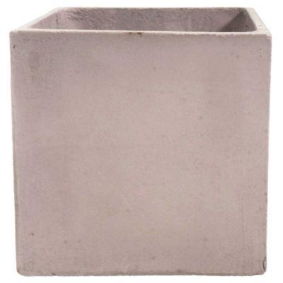 Maceta de fibrocemento cubo 25 x 25 cm
