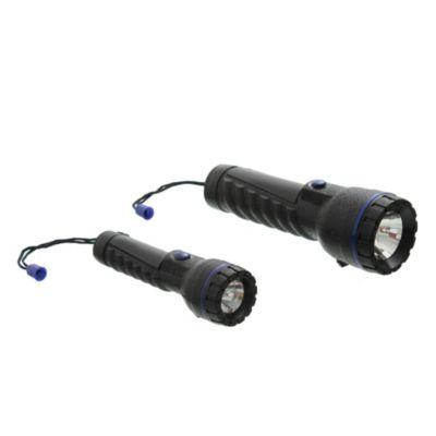 Set 2 linternas LED con armazón de goma