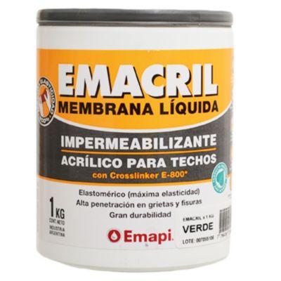Impermeabilizante para techos emacril blanco 1 kg