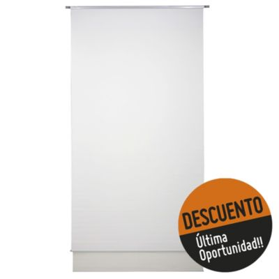 Cortina enrollable doble natural 120 x 220 cm