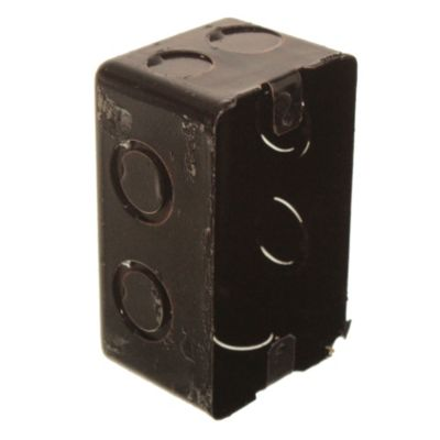 Caja de hierro rectangular profunda 5 x 10 cm
