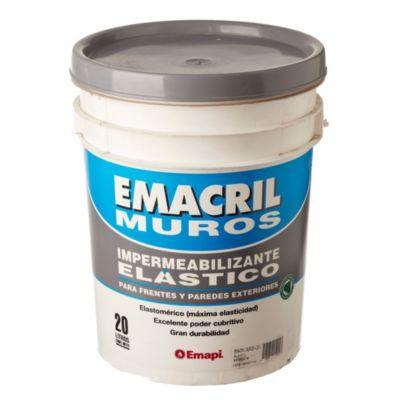 Impermeabilizante para frentes Emacril blanco 20 l
