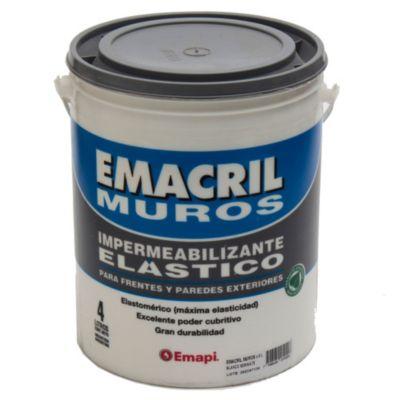 Impermeabilizante para frentes emacril blanco 4 l