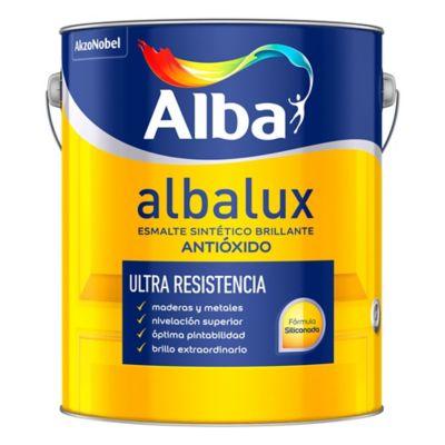 Esmalte sintético brillante Albalux blanco 1 l