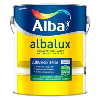 Esmalte sintético brillante Albalux blanco 4 L