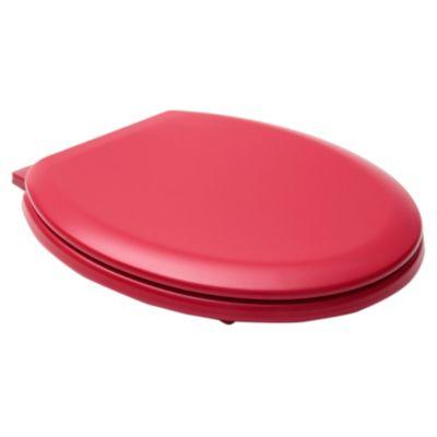 Asiento para inodoro Florencia redondo de MDF y plástico rojo