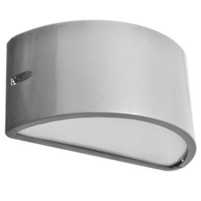 Aplique de pared para exterior una luz aluminio Unidireccional gris E27 IP54