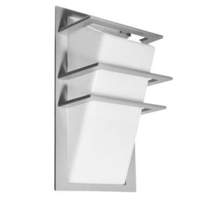 Aplique de pared para exterior una luz aluminio Rayas gris E27 IP44