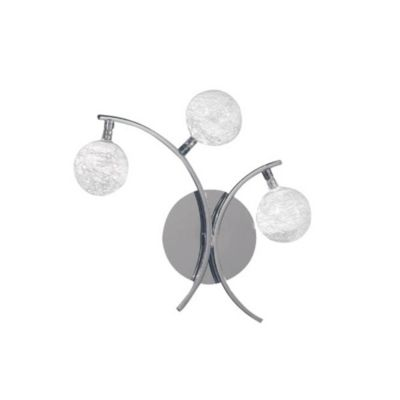 Aplique de pared tres luces esferas vidrio g4