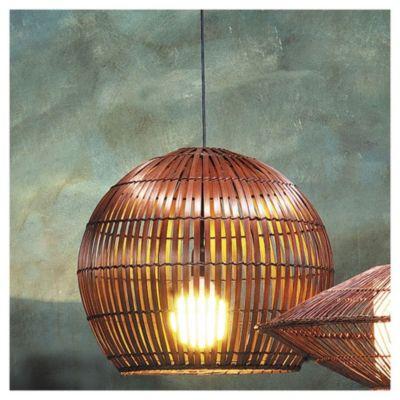 Lámpara de techo colgante una luz bamboo 50 cm E27