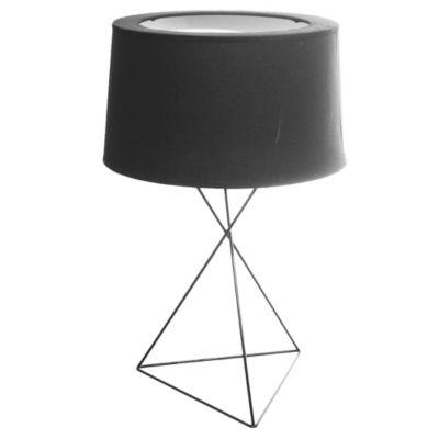 Lámpara de mesa una luz base triangular E27 negra