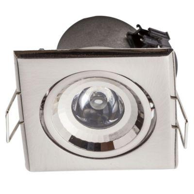 Embutido de techo uno LED cuadrado platil 1w