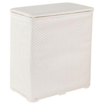 Cesto para ropa decorativo blanco