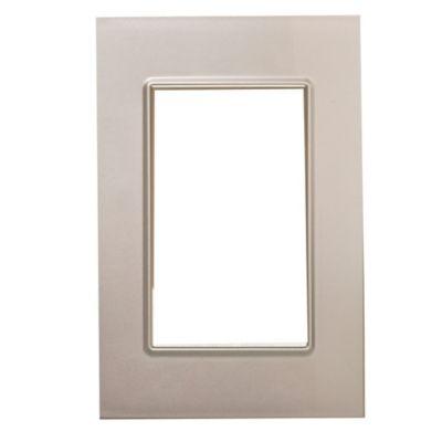 Tapa rectangular plata línea quadra metalizado