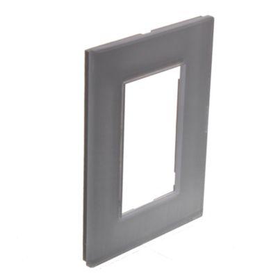 Tapa rectangular blanca línea minimal kristal