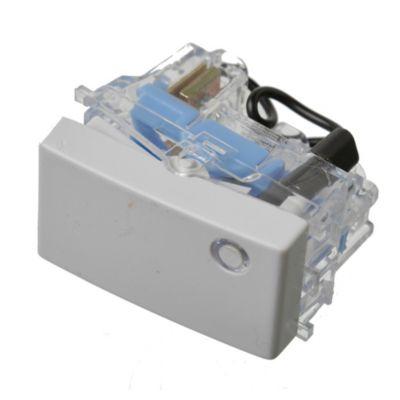 Módulo interruptor unipolar con señal luminosa blanco