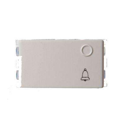 Módulo interruptor pulsador unipolar blanco