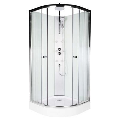 Cabina de ducha con columna de hidromasaje