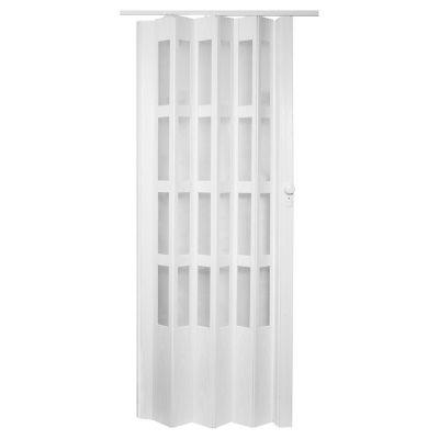 Puerta plegable lugano blanca 90 x 200 cm derec...