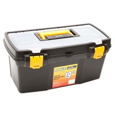 Caja de herramientas plástica negra 19