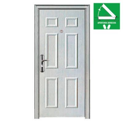Puerta de seguridad 6 tableros blanca 90 x 200 x 10 cm derecha