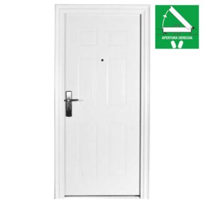 Puerta de seguridad line blanca 90 x 200 x 10 c...