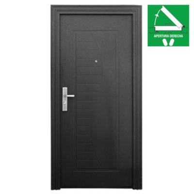 Puerta de seguridad curve negra 90 x 200 x 10 c...