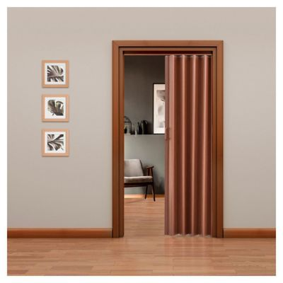 Puerta plegable Tivoli caoba 90 x 200 cm derecha