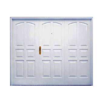Portón para garage 6 tableros 240 x 200 x 10 cm derecho