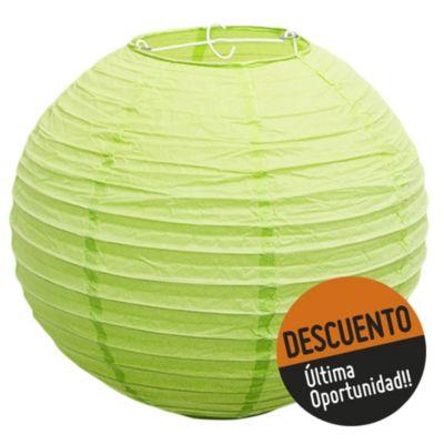 Pantalla globo papel verde pistacho 30 cm