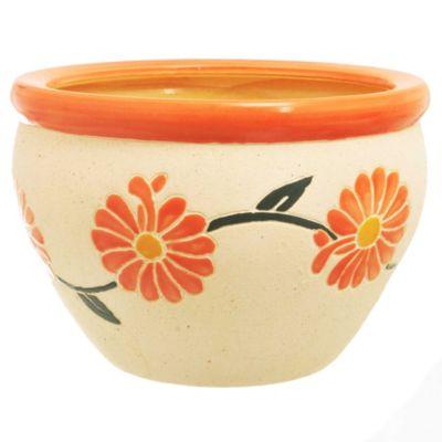 Maceta flor naranja 30 x 21 cm