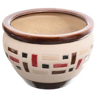 Maceta ladrillo 30 x 21 cm café