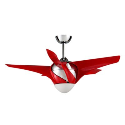 Ventilador de techo twist con control remoto rojo