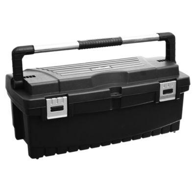 Caja de herramientas plástica profesional negra 26