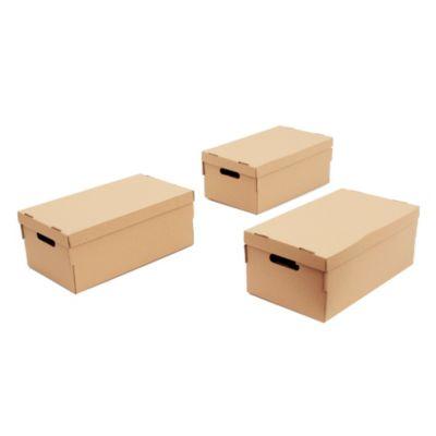 Cajas de cartón kraft x 3 u
