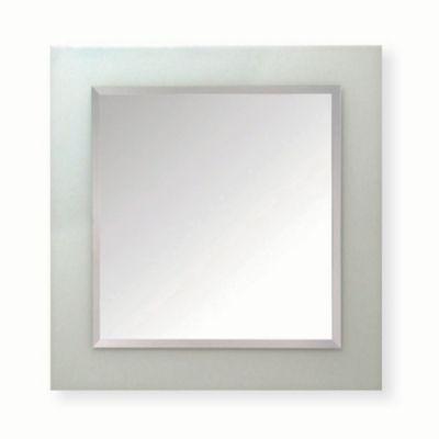 Espejo para baño cuadrado arenado 80 x 80 cm