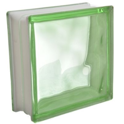 Ladrillo de vidrio verde nublado