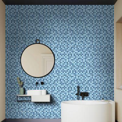 Malla vidrio 30 x 30 cm azul