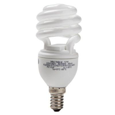 Lámpara bajo consumo helicoidal 12 w cálida e 14