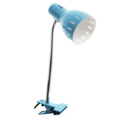 Lámpara de Escritorio una luz Pinza azul y cromo E27