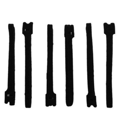 Abrojo sujeta cable 300 mm negro 6 u