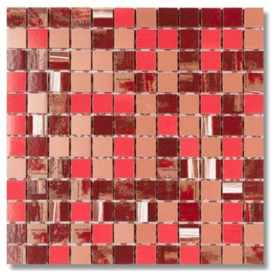 Malla mosaico soul rojo 30 x 30 cm