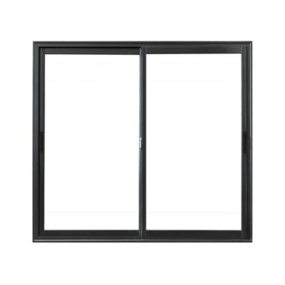 Ventana de aluminio negra 150 x 150 x 8 cm