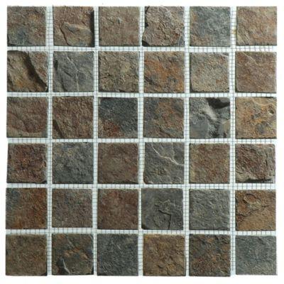 Malla mosaico 30 x 30 cm bamak 5 x 5 oxido