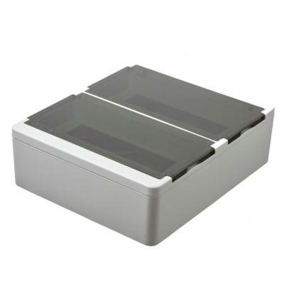 Caja plástica de superficie línea recta para térmicas din ip40 22 módulos