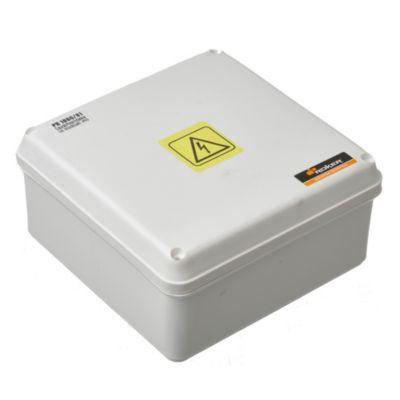 Caja plástica de paso estanca ip65 165 x 165 x 81 mm