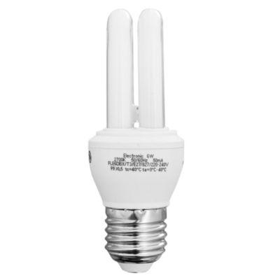 Lámpara bajo consumo Tubo 6w Cálida E27