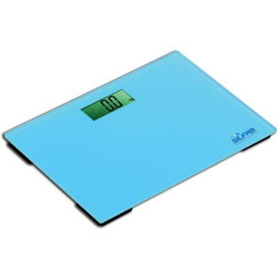 Balanza para baño de vidrio templado azul hasta 150 kg