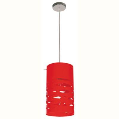 Lámpara de techo colgante una luz acrílico rojo e27