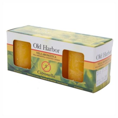 Vela aromática con citronella 3 u